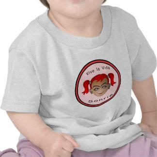 Vive la vida Sonrie Niña Tshirts