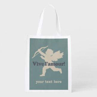 Vive L'amour Cupid custom reusable bag