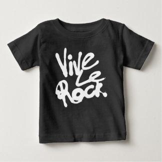 VIVE LE ROCK - Vintage 70s 80s punk rock slogan Baby T-Shirt