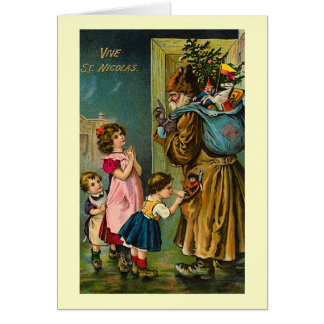 """Vive St. Nicolas"" Vintage French Christmas Card"