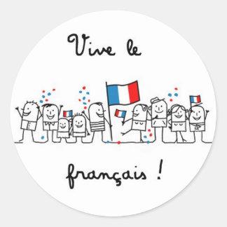 ViveLeFrancais Round Sticker