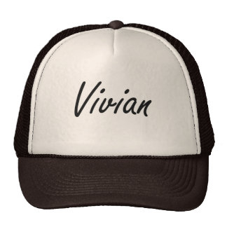 Vivian artistic Name Design Cap