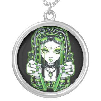 """Vivian"" Cyber goth Dark Industrial Fae Necklace"