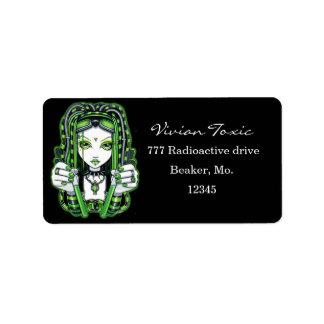 """Vivian"" Cybergoth Dark Industrial Fairy Labels"