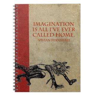 Vivian Imagination Sketchbook Spiral Notebook