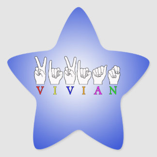 VIVIAN NAME ASL FINGER SPELLED SIGN STICKERS