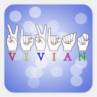 VIVIAN NAME ASL FINGER SPELLED SIGN STICKER