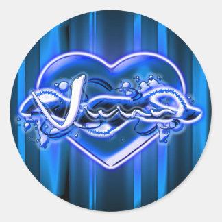 Vivian Round Sticker