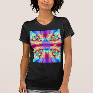 Vivid Abstract Rainbow Convergence Fractal Tshirt