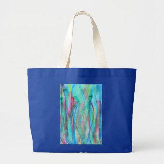 Vivid abstract watercolor jumbo tote bag