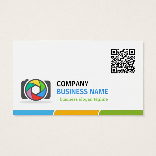 Vivid and Colourful Photography with QR Code Business Card