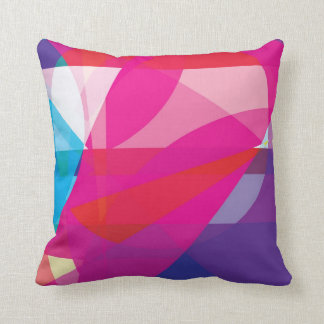 VIVID | beautiful modern bright shapes abstract Throw Pillow