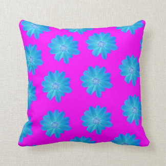 Vivid blue and purple pillow
