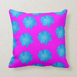 Vivid blue and purple pillow cushion