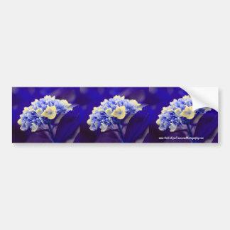 Vivid Blue Hydrangea Flower Bumper Sticker Car Art