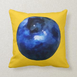 Vivid Blueberry Print Throw Pillow