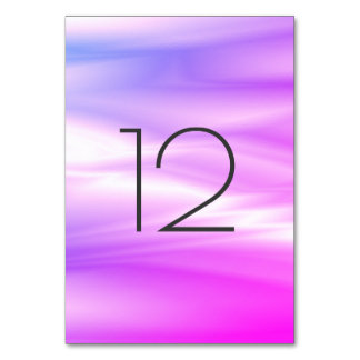 Vivid Bright Pink Rose White Vertical Table Number Table Card