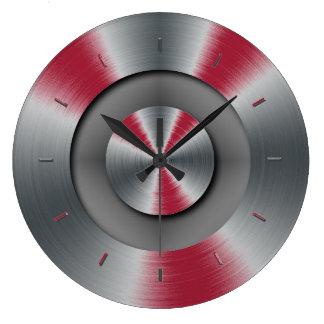 Vivid Burgundy Tones Color Complementing Large Clock
