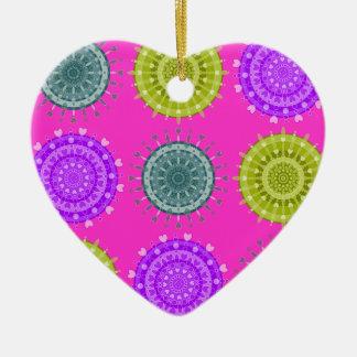 Vivid Circular Pattern Christmas Ornament