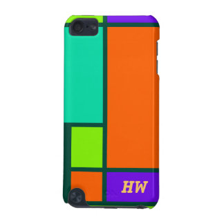 Vivid color blocks pattern iPod touch 5G cover