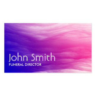 Vivid Colorful Clouds Funeral Business Card