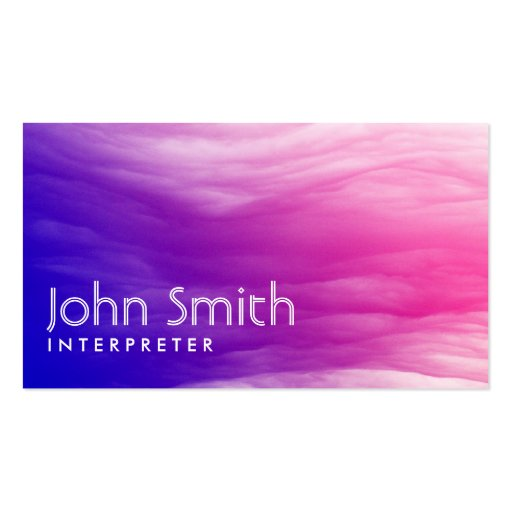 Create your own translator business cards vivid colorful clouds interpreter business card colourmoves