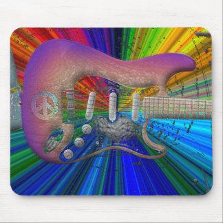 Vivid Colors Peace Guitar Mouse Pad