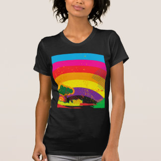 Vivid colourful rainbow landscape T-Shirt