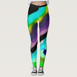 Vivid  colours abstract  image  leggings