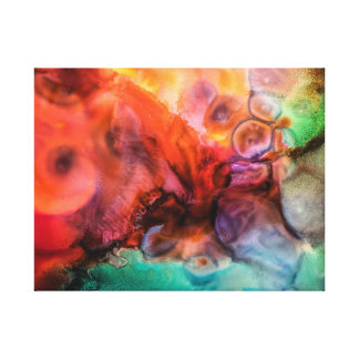 Vivid contemporary abstract painting canvas print