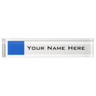 Vivid Deep Ocean Blue Desk Nameplate