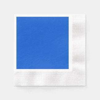 Vivid Deep Ocean Blue Disposable Napkins