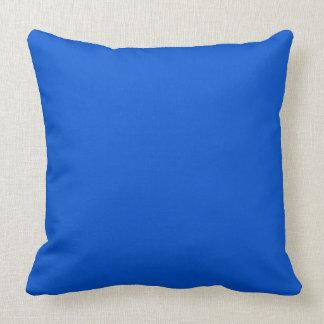 Vivid Deep Ocean Blue Throw Cushions