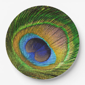 Vivid Feather Paper Plate
