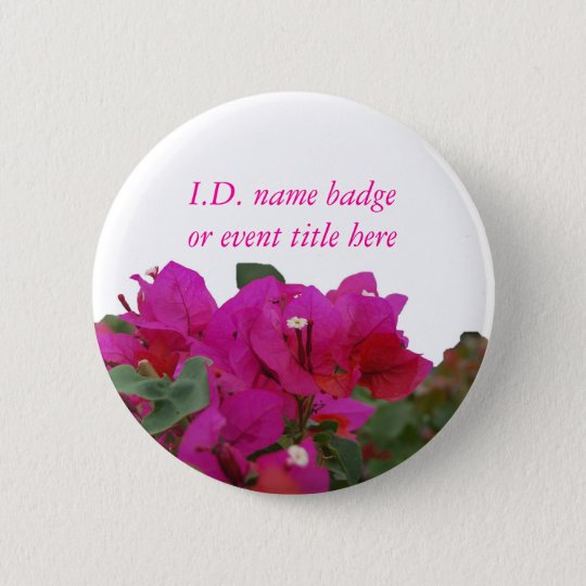 Vivid Flowers Name Badge