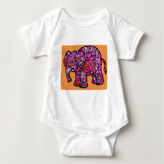 vivid funky graffiti elephant baby bodysuit