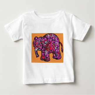 vivid funky graffiti elephant baby T-Shirt