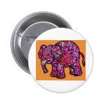 vivid funky graffiti elephant button