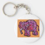 vivid funky graffiti elephant key chain