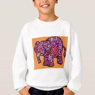 vivid funky graffiti elephant sweatshirt