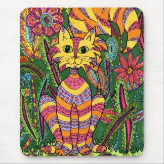 Vivid Garden Cat 2 Mouse Mat
