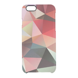 Vivid Geometric Triangle Pattern Modern Boho Clear iPhone 6/6S Case