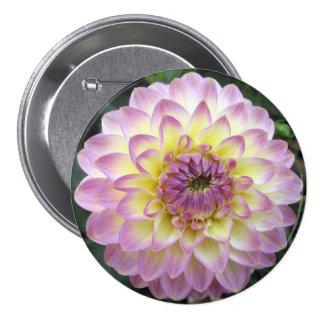 Vivid Lavender Creme Dahlia 7.5 Cm Round Badge