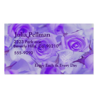 Vivid Lavender Roses Business Card Templates