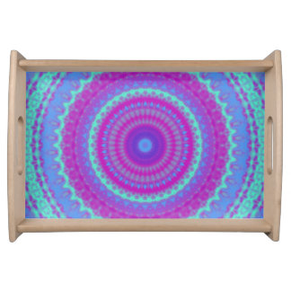 Vivid Mandala Serving Tray