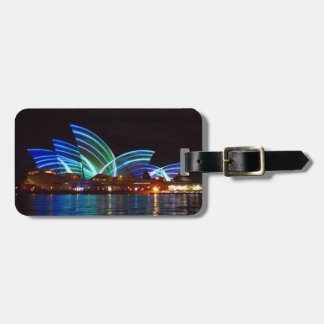 vivid opera houses luggage tag