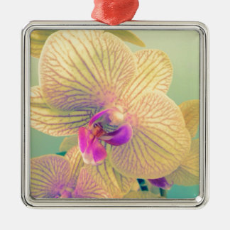 Vivid orchid christmas ornament