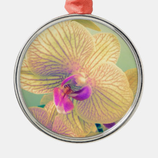 Vivid orchid christmas ornament