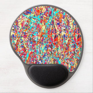 Vivid Paint Splatter Abstract Gel Mouse Pad