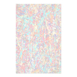 Vivid Paint Splatter Abstract Stationery Design